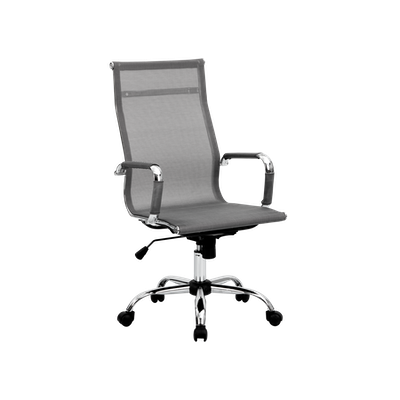 Eames High Back Mesh Office Chair - Grey - Image 2