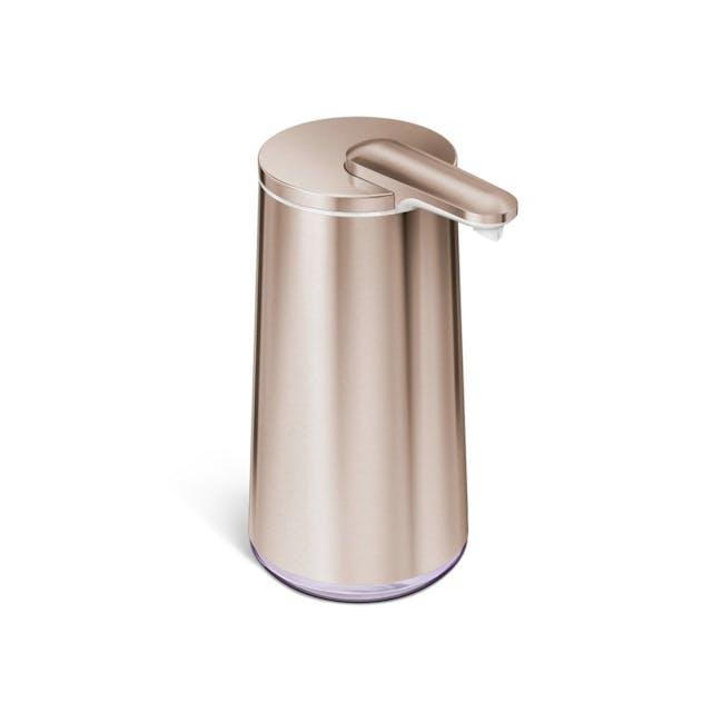simplehuman Sensor 10oz Foam Soap Pump Rechargeable - Rose Gold - 0