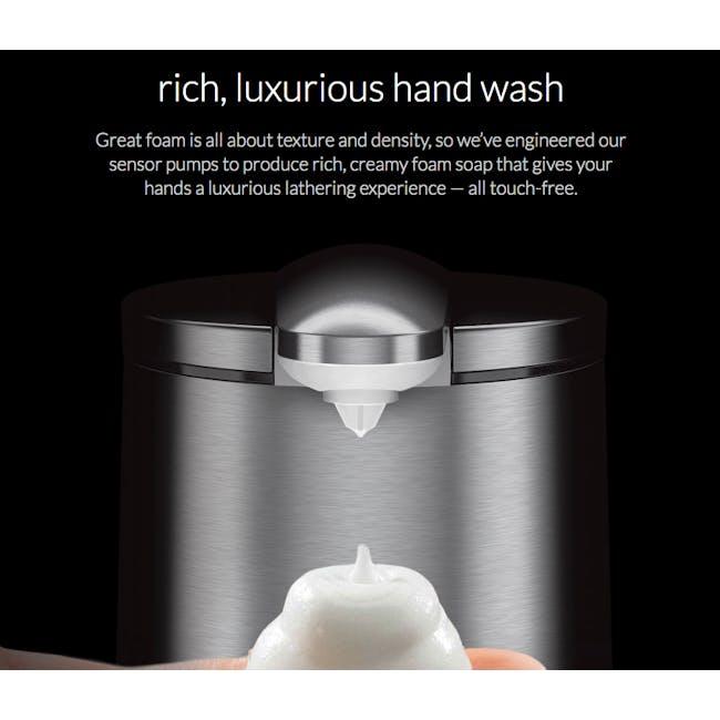 simplehuman Sensor 10oz Foam Soap Pump Rechargeable - Rose Gold - 4