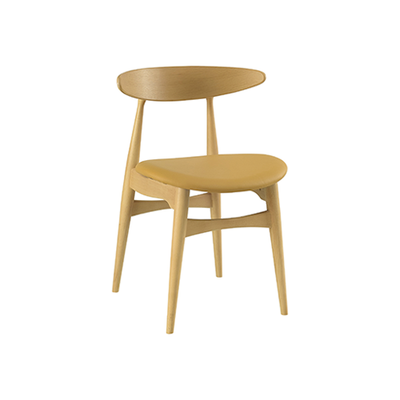 Tricia Dining Chair - Oak, Caramel - Image 1