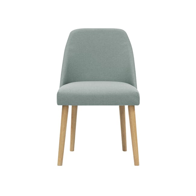 Roden Dining Table 1.8m in Natural with 4 Miranda Chairs in Sea Green and Pink - 7