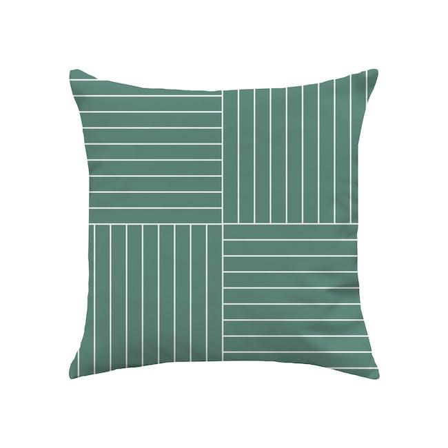 Palette Linen Cushion Cover - Pine Green - 0