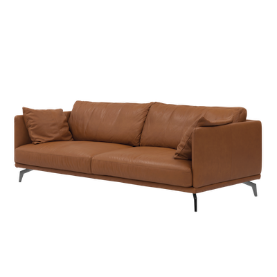 Como 3 Seater Sofa - Brown (Genuine Cowhide) - Image 2