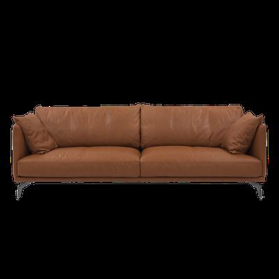 Como 3 Seater Sofa - Brown (Genuine Cowhide) - Image 1