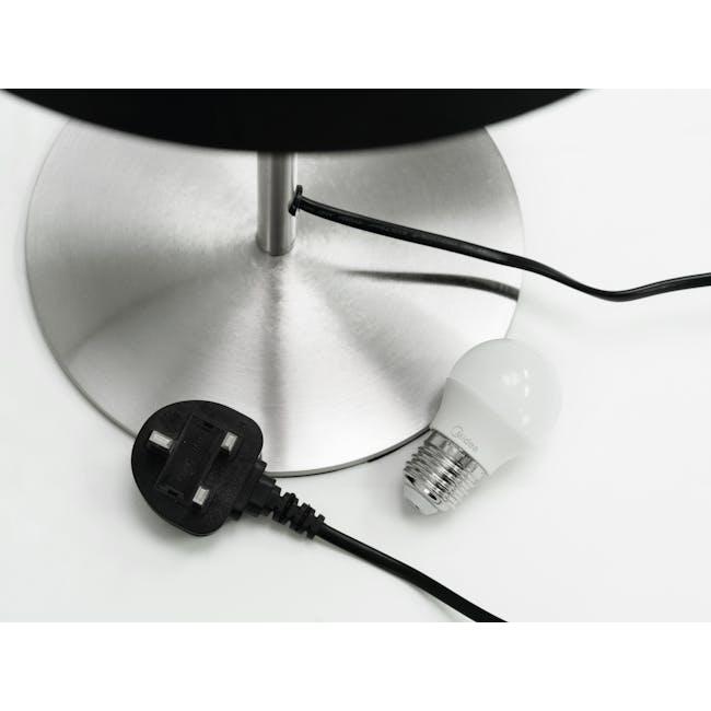 Reese Table Lamp - Black, Nickel - 3