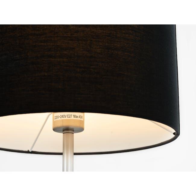 Reese Table Lamp - Black, Nickel - 1