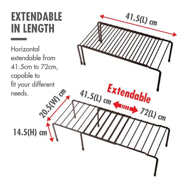Extendable Steel Rack Organiser - Coffee - 6