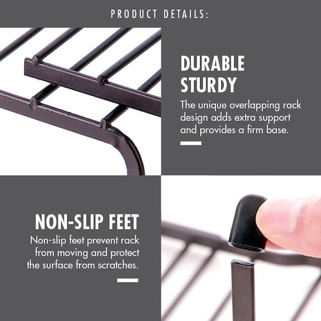 Extendable Steel Rack Organiser - Coffee - 5