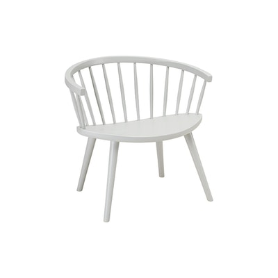 Molly Lounge Chair - White Grey