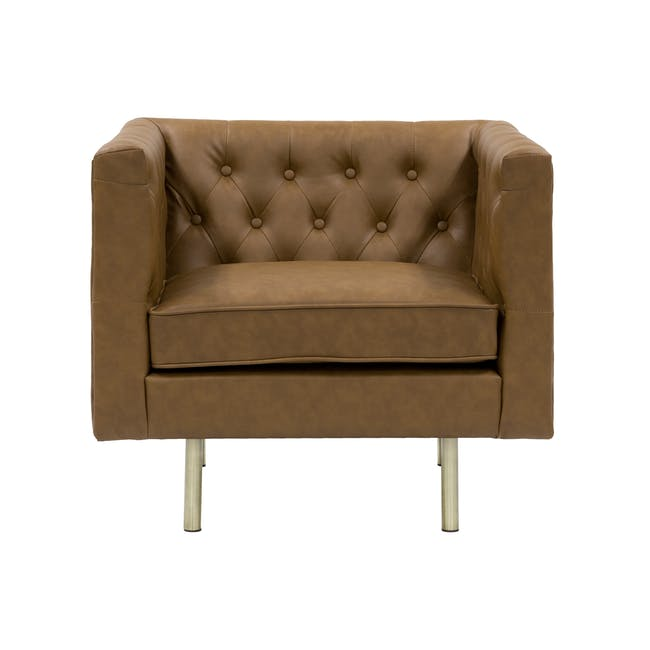 Cadencia 2 Seater Sofa with Cadencia Armchair - Tan - 1