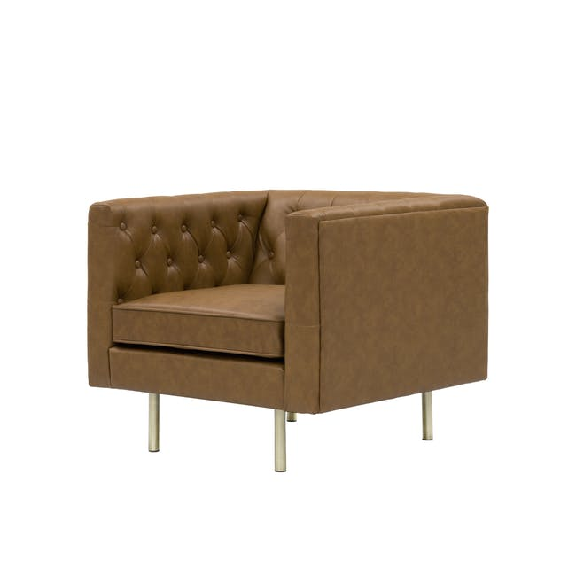 Cadencia 2 Seater Sofa with Cadencia Armchair - Tan - 3
