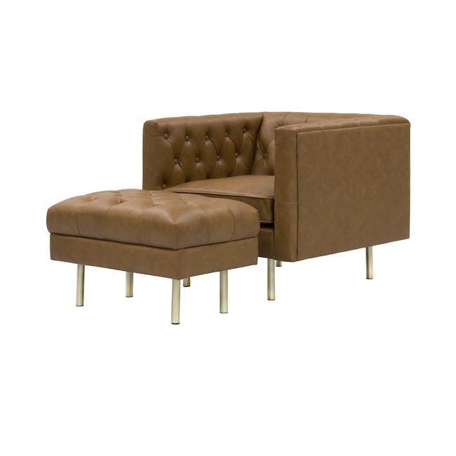 Cadencia 2 Seater Sofa with Cadencia Armchair - Tan - 4