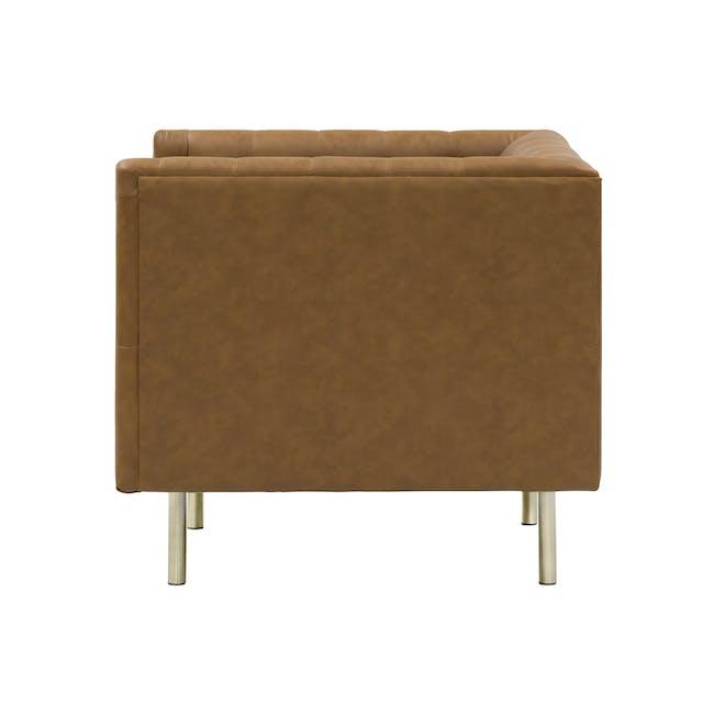 Cadencia 2 Seater Sofa with Cadencia Armchair - Tan - 5
