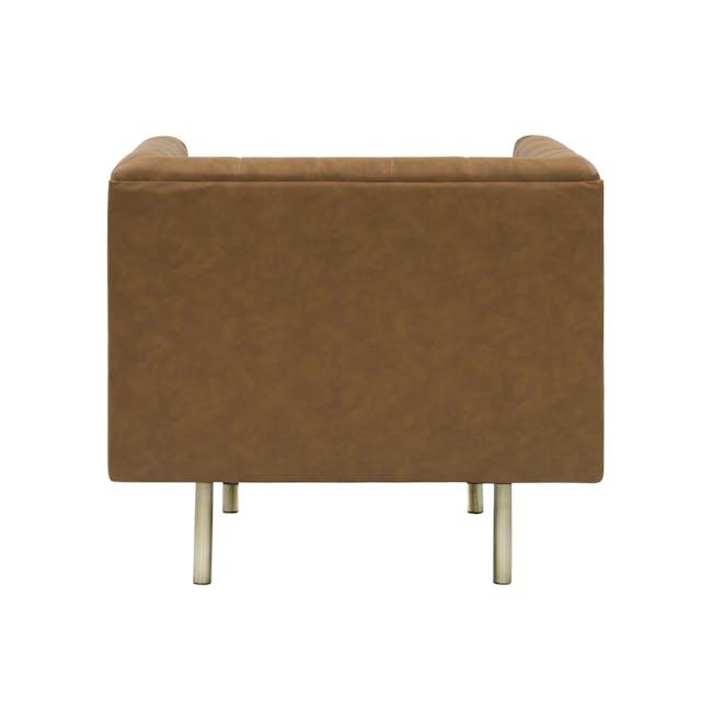 Cadencia 2 Seater Sofa with Cadencia Armchair - Tan - 6