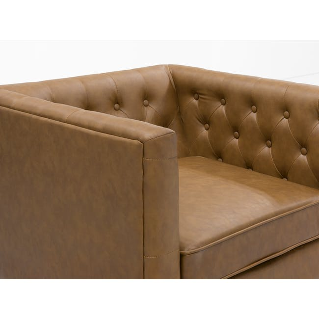 Cadencia 2 Seater Sofa with Cadencia Armchair - Tan - 7
