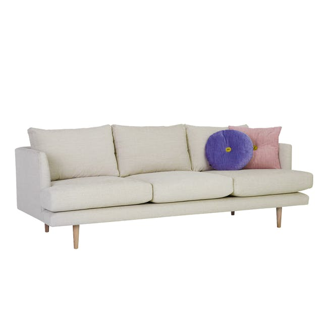 Duster 3 Seater Sofa - Almond (Fabric) - 2