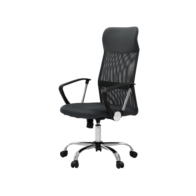 Cory High Back Office Chair - Grey - 1