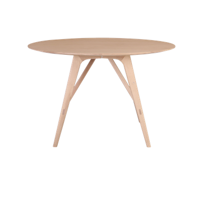 Fidel Round Dining Table 1.2m with 4 Fabiola Dining Chairs - Oak - Image 2