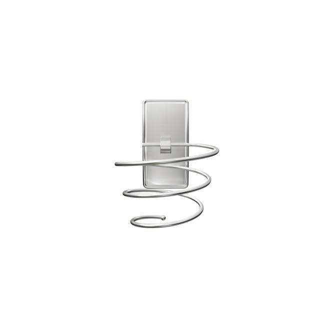 Command™ Satin Nickel Hair Dryer Holder - 2