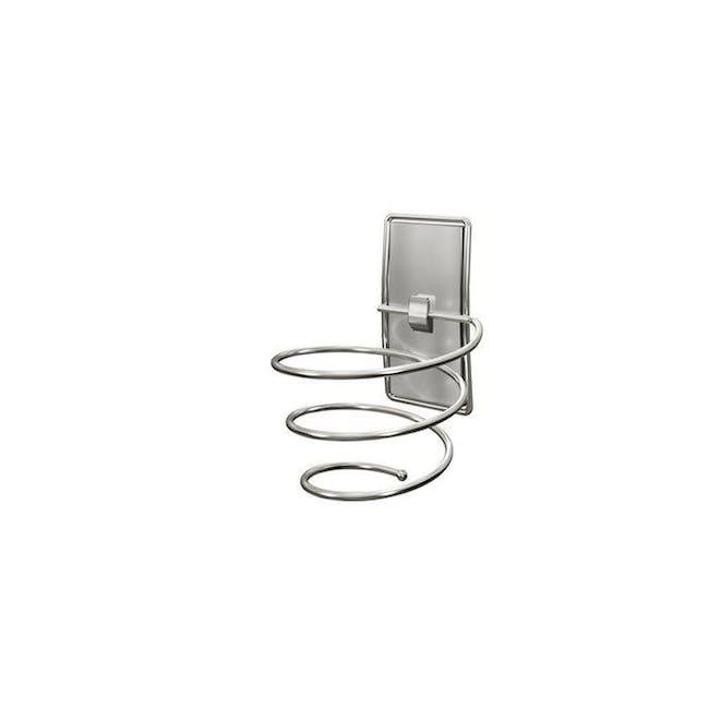 Command™ Satin Nickel Hair Dryer Holder - 0