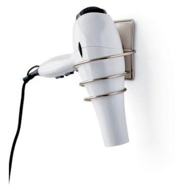 Command™ Satin Nickel Hair Dryer Holder - 1