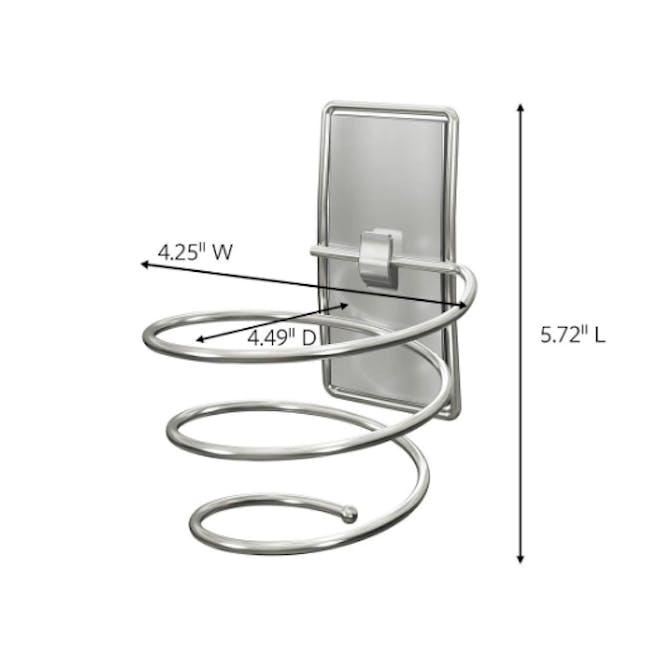 Command™ Satin Nickel Hair Dryer Holder - 5
