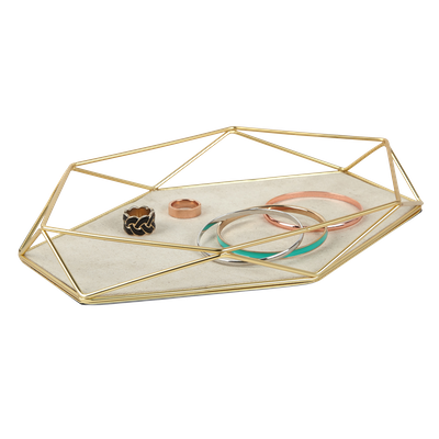 Prisma Jewelry Tray - Matte Brass - Image 1