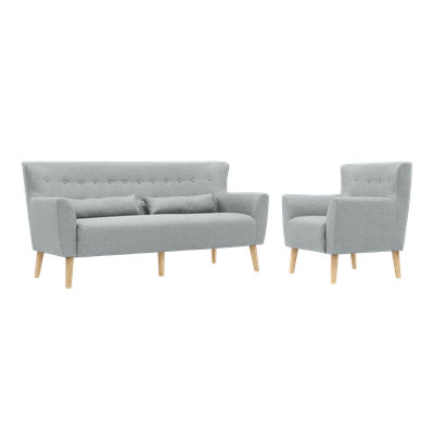Sofia 3 Seater Sofa and Sofia Armchair - Image 1