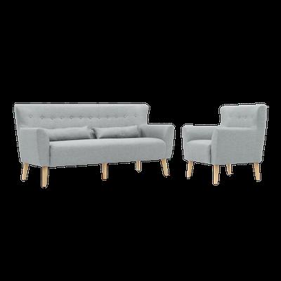Sofia 3 Seater Sofa and Sofia Armchair - Image 1
