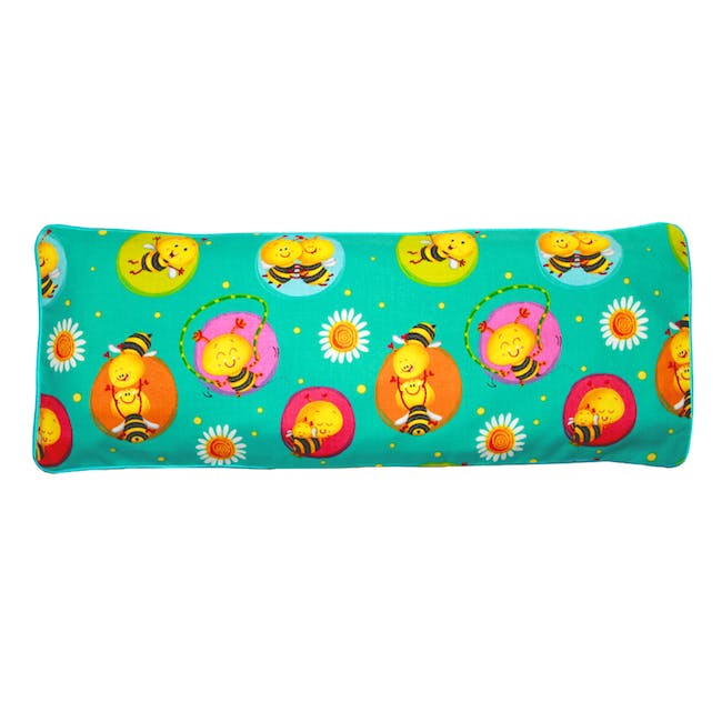 Busy Bees Snuggy Beansprout Husk Pillow - Jade (Cotton) - 0