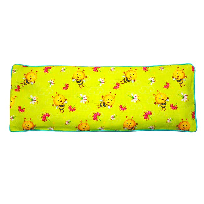 Busy Bees Snuggy Beansprout Husk Pillow - Jade (Cotton) - 1