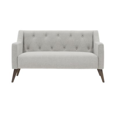 (As-is) Xavier Loveseat - Ivory - 1 - Image 1