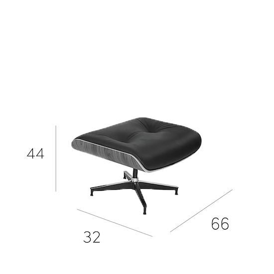 Eames Lounge Chair And Ottoman Black Genuine Cowhide Modern Classics Hipvan
