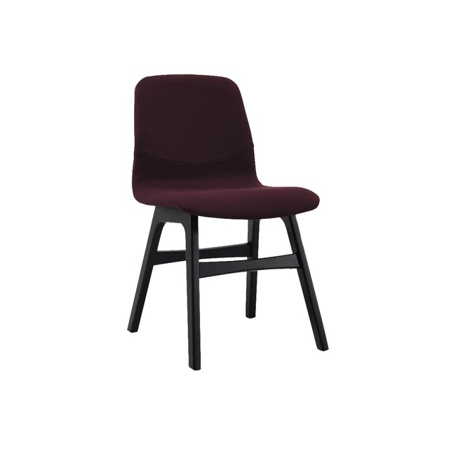 Ava Dining Chair - Black Ash, Ruby - 0