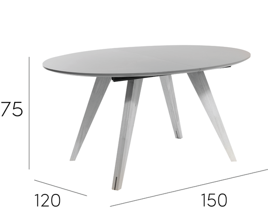 Malmo Ryder Extendable Dining Table 15m Dust Brown  : RyderOval8SeaterExtendableDiningTable from www.hipvan.com size 550 x 550 png 70kB