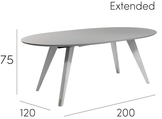 Malmo Ryder Extendable Dining Table 15m Dust Brown  : RyderOval8SeaterExtendedDiningTable from www.hipvan.com size 550 x 550 png 70kB
