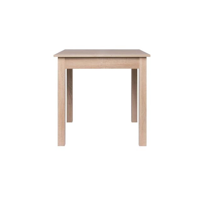 Jonah Extendable Table 0.8m in Oak with 2 DSW Chair Replica in Natural, Clear - 1