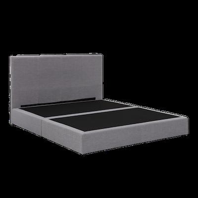 ESSENTIALS Headboard Box Bed - Grey (Fabric)- 4 Sizes - Image 2
