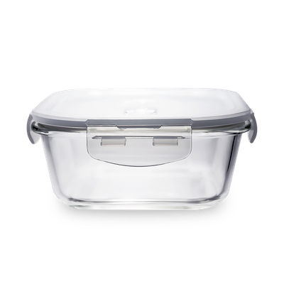 PICNIC Square Glass Food Storage with Lid - 320 ml - Image 1