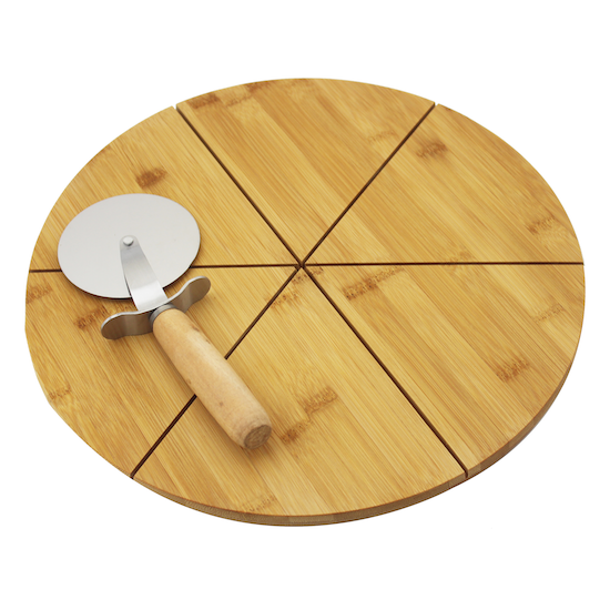 bam.boo - Pizza Board with Pizza Wheel Cutter