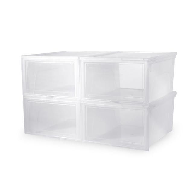 Men's Sliding Shoe Box - Clear (Pack of 4) - 0