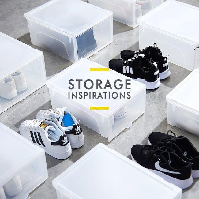Men's Sliding Shoe Box - Clear (Pack of 4) - 6