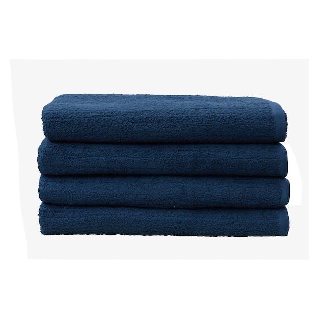 EVERYDAY Bath Sheet - Navy Blue (Set of 4) - 0