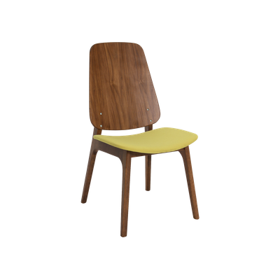 Maddie Dining Chair - Walnut, Pistachio - Image 1