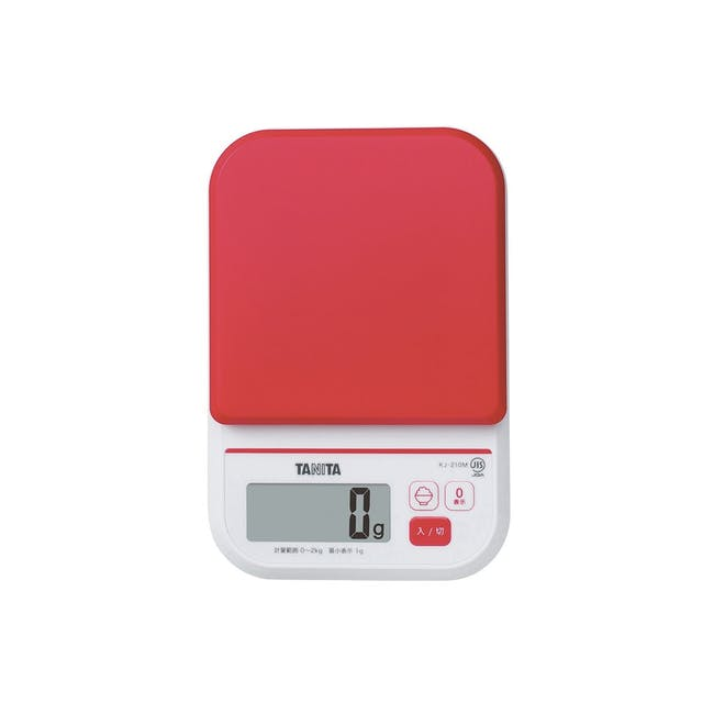 Tanita Digital Kitchen Scale with Rice Calorie Count - Red - 0