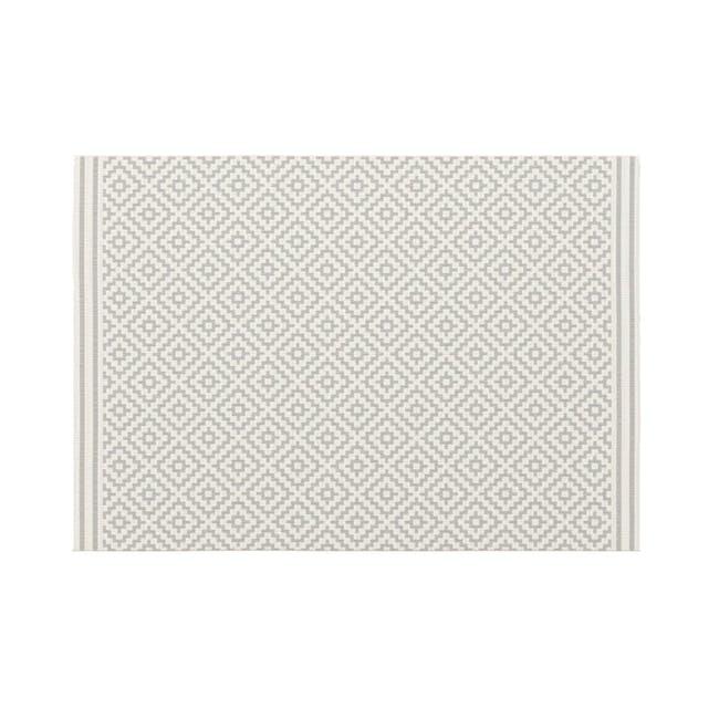 Essenza Flatwoven Rug 2.3m x 1.6m - Silver Nordic Lozenge - 0