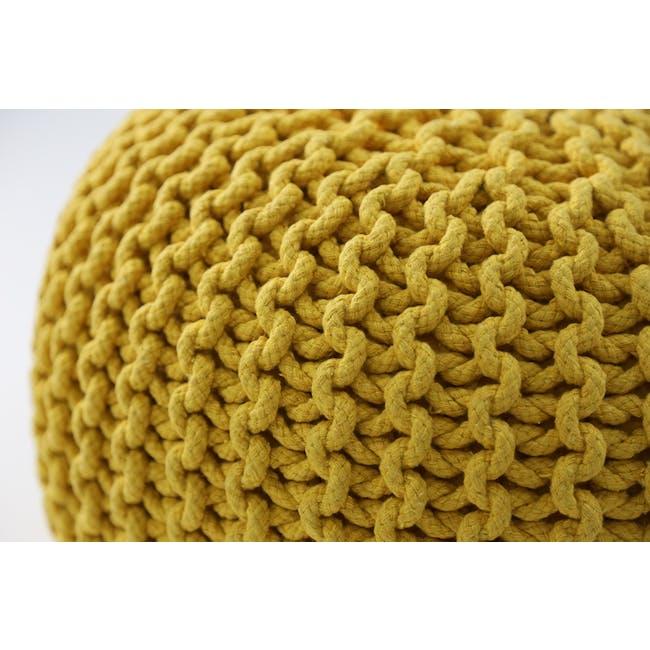 Maui Knitted Pouf - Yellow - 1