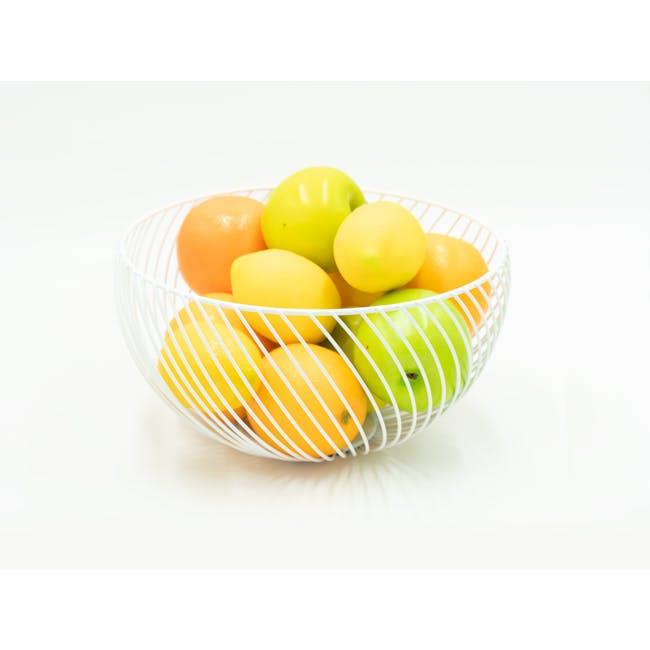 Rhea Wire Basket - White - 1