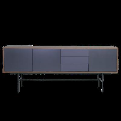 Bacchus Sideboard 2m - Walnut, Grey - Image 2