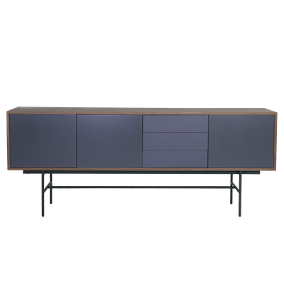 Bacchus Sideboard 2m - Walnut, Grey - Image 2